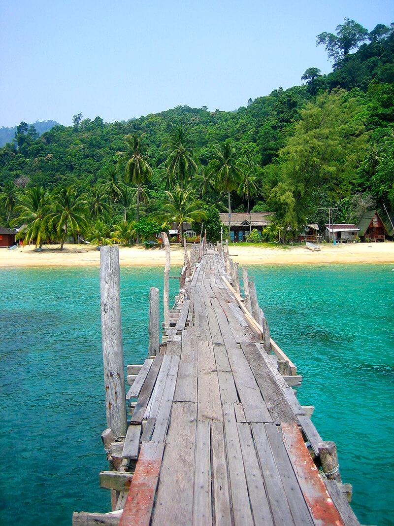 ティオマン島の桟橋