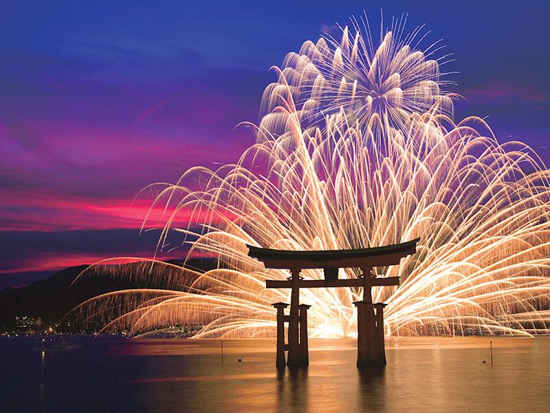 嚴島神社 花火
