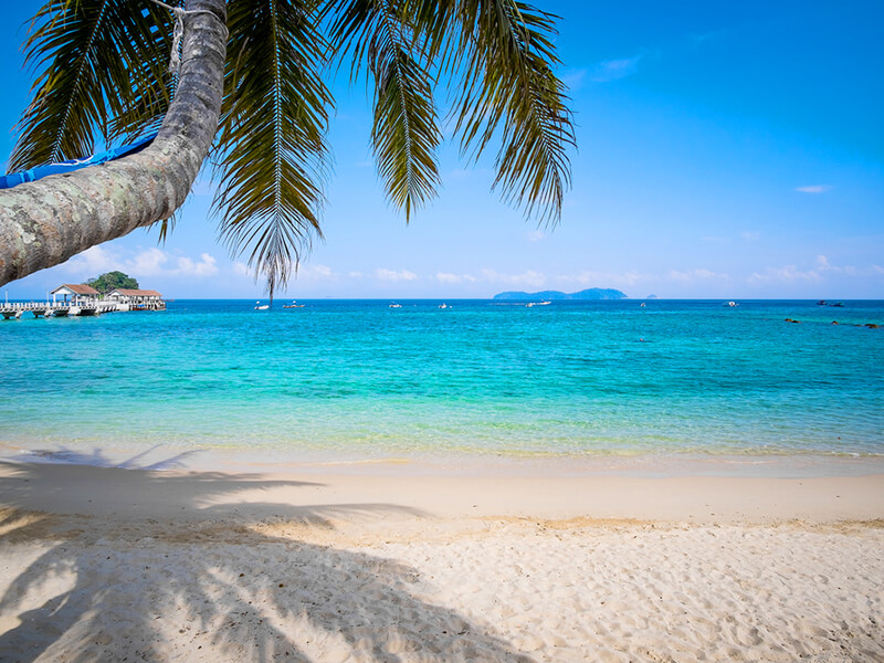 ティオマン島のビーチ