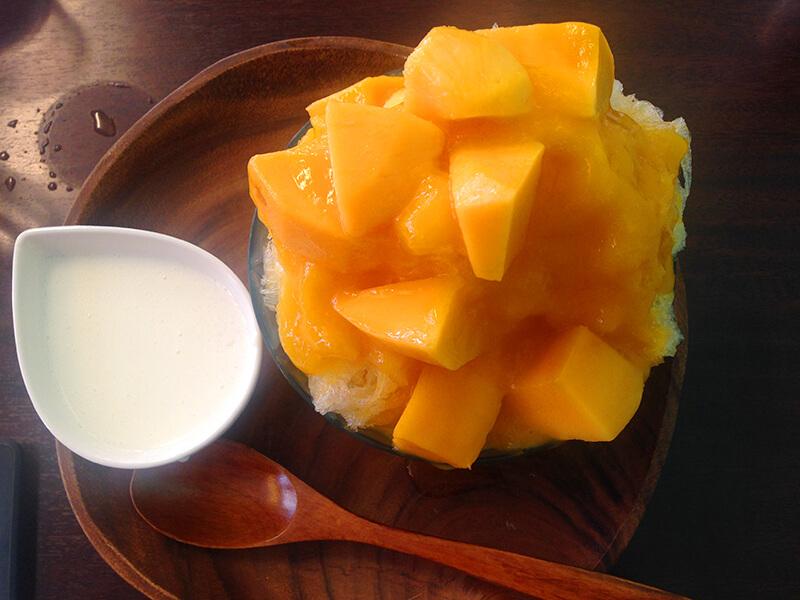Cafe Fruits Kitchen 歩乃香・マンゴーかき氷