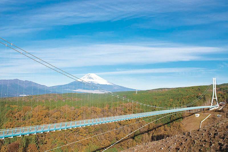三島スカイウォークから望む富士山
