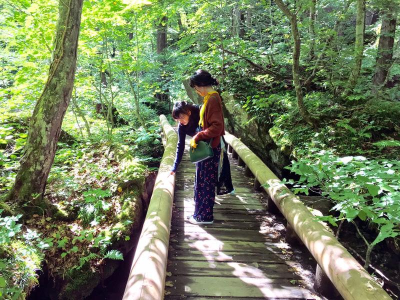 蔦沼。手前から宮崎香蓮、小島藤子 ©TBS