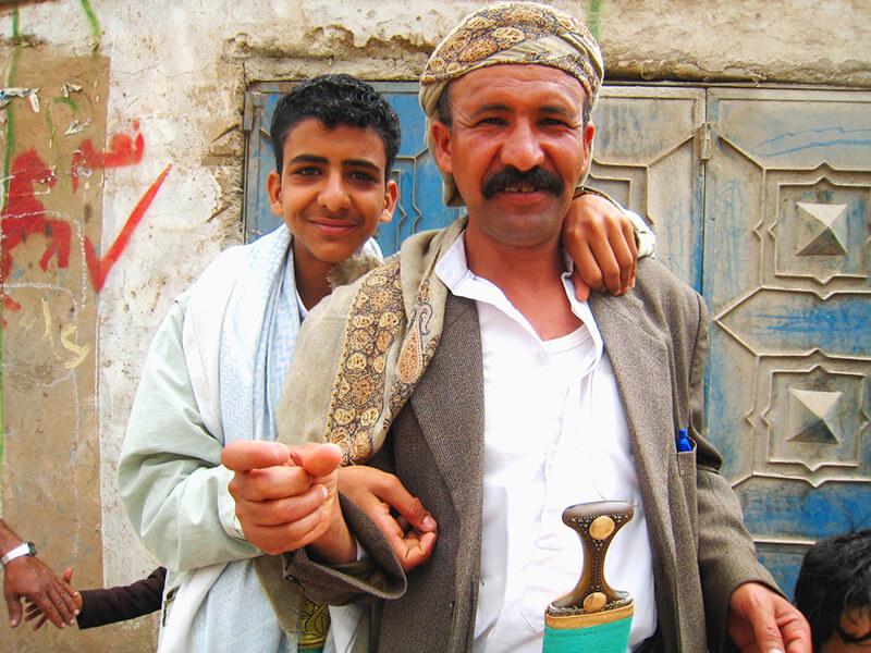 イエメン人の親子