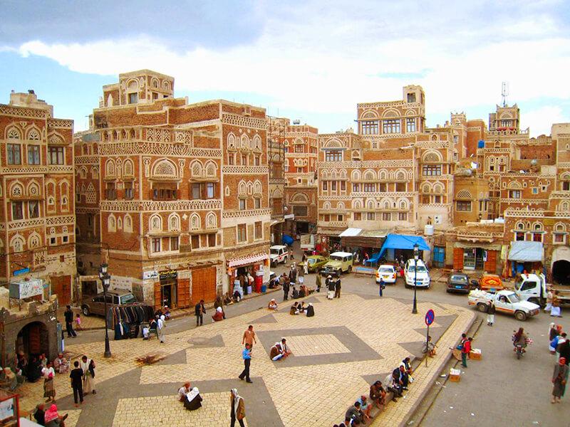 イエメンの街並み