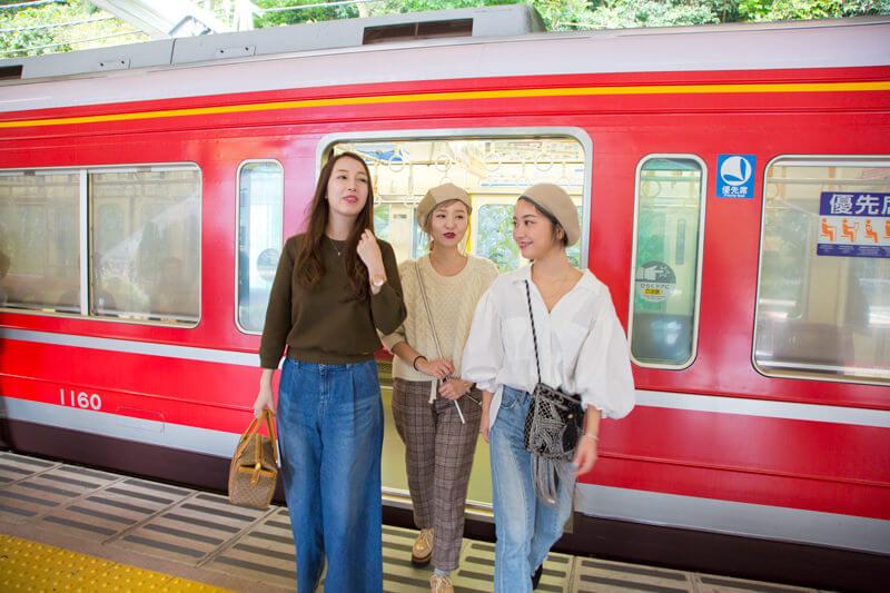 箱根湯本駅に到着!