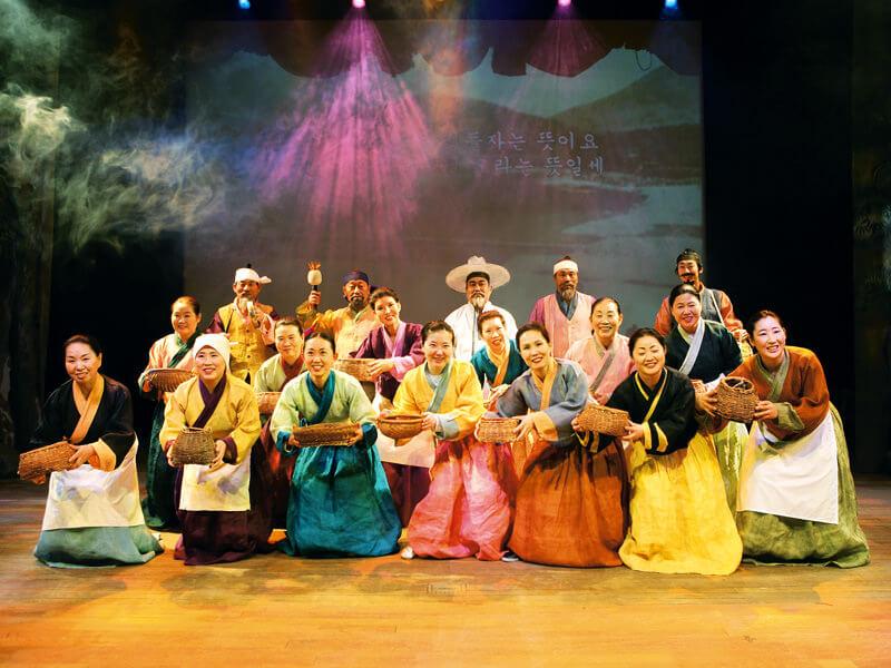 伝統あるアリラン公演。写真提供:韓国観光公社