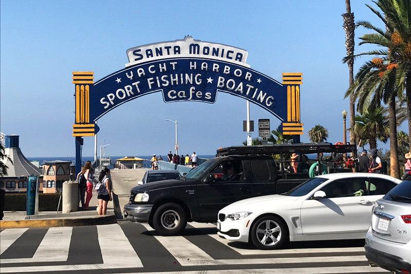 サンタモニカ・ピアの入口