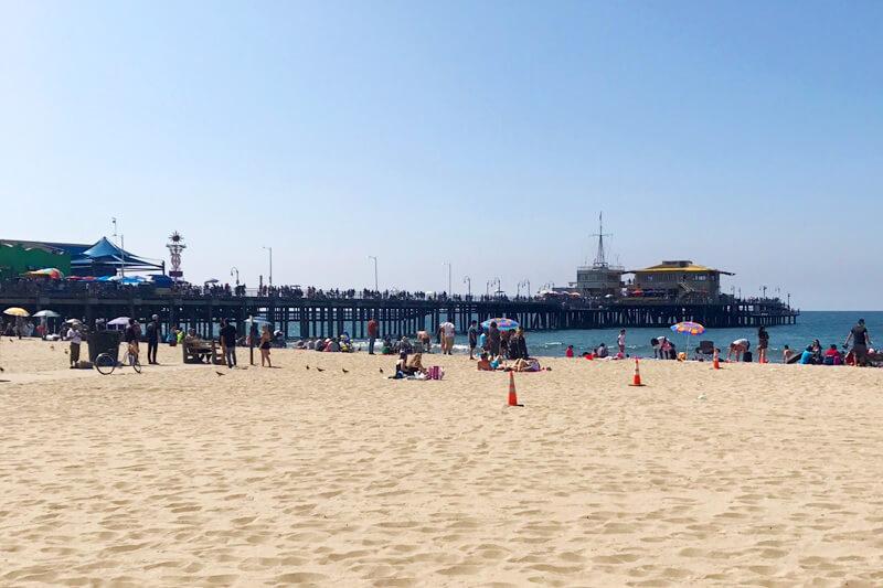 サンタモニカ・ピアとビーチ
