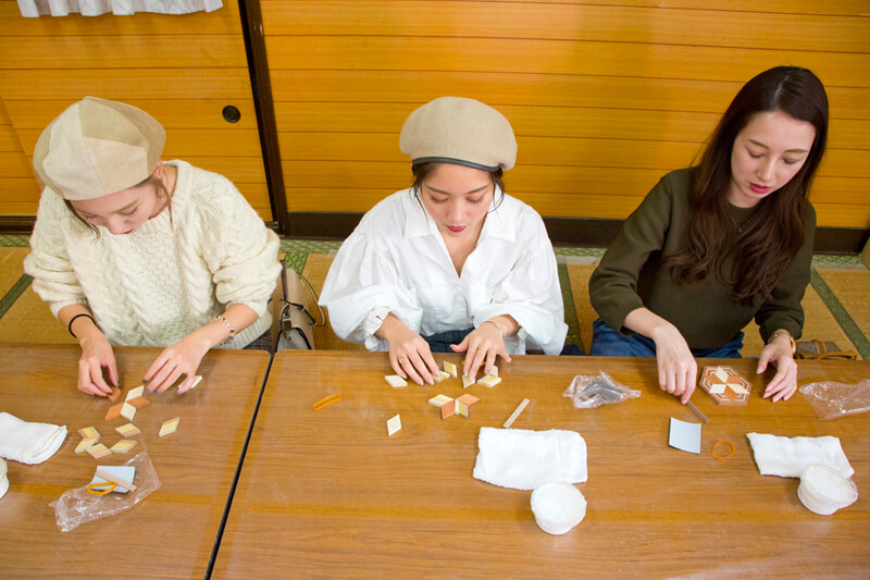 箱根寄木細工|パーツの組み合わせ