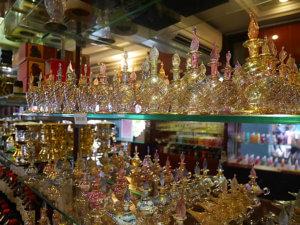 かわいいガラスの香水瓶
