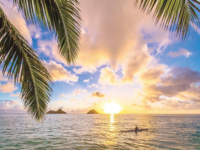 ラニカイビーチの日の出