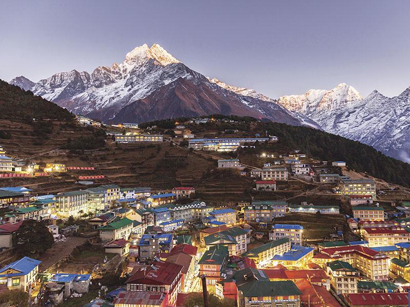 ネパールの街並み
