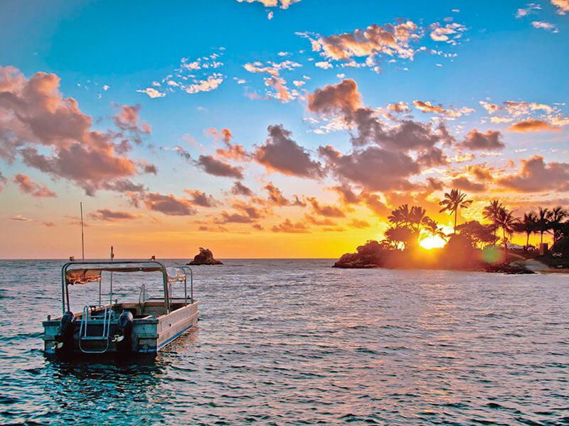 夕日が沈むニューカレドニア