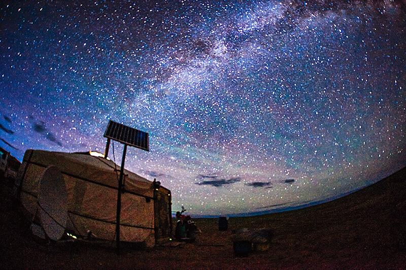 夜のゴビ砂漠