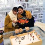 是永瞳と宮本茉由が冬の北海道、洞爺湖と札幌へ。すべて氷でできたアイスレストランへ!