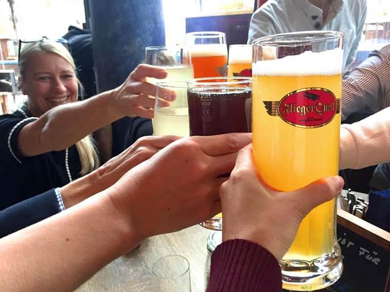 いろんな種類のビールで乾杯!