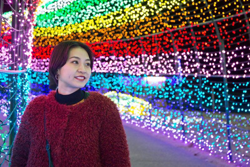 東京ドイツ村、虹のトンネル。