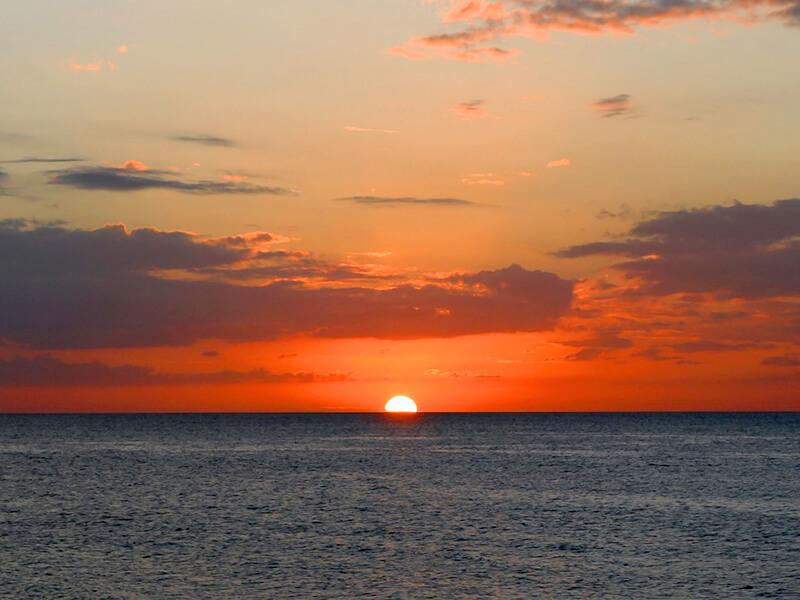 クリアウォータービーチの夕日