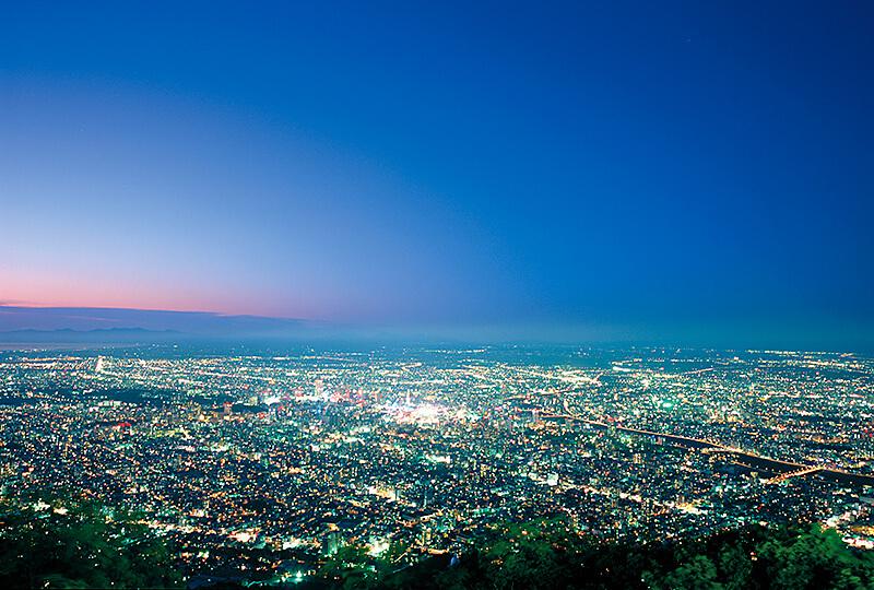 藻岩山からの札幌市の街並み