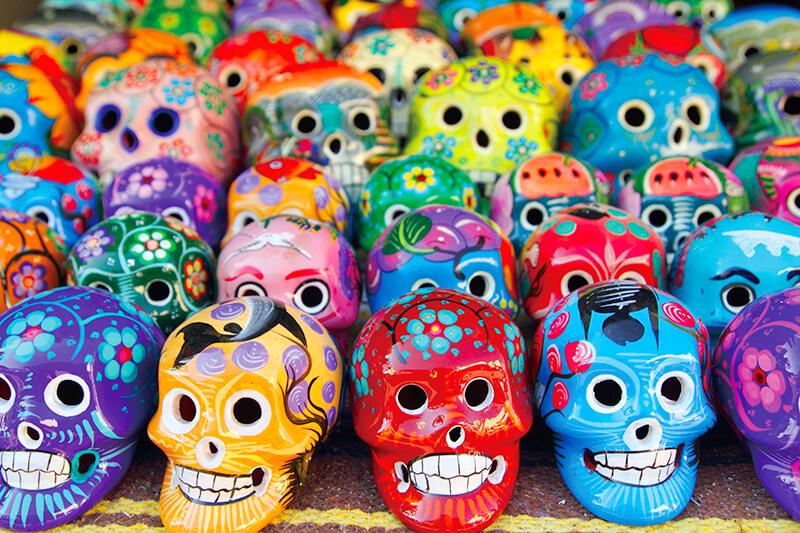 メキシコ土産のスカル