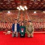 ガレッジセールと草刈麻有が日本最大級のひな壇飾りを見に静岡県・可睡斎ひなまつりへ