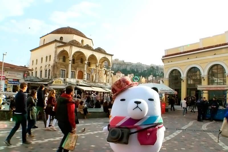 ギリシャ・アテネへ。ジーンちゃん ©関西テレビ