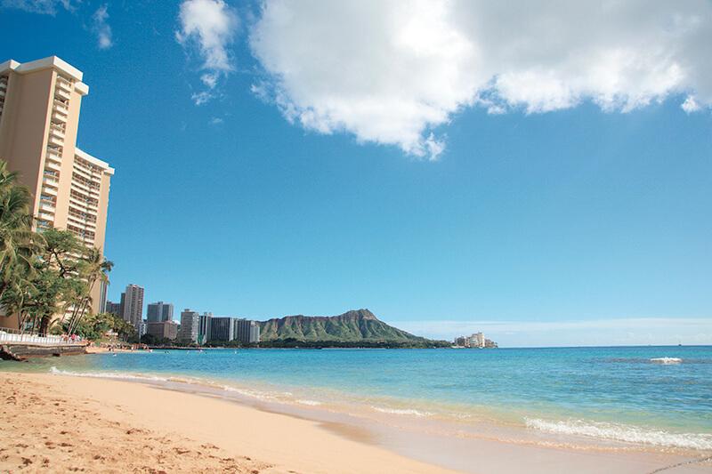人気の少ないハワイのビーチ