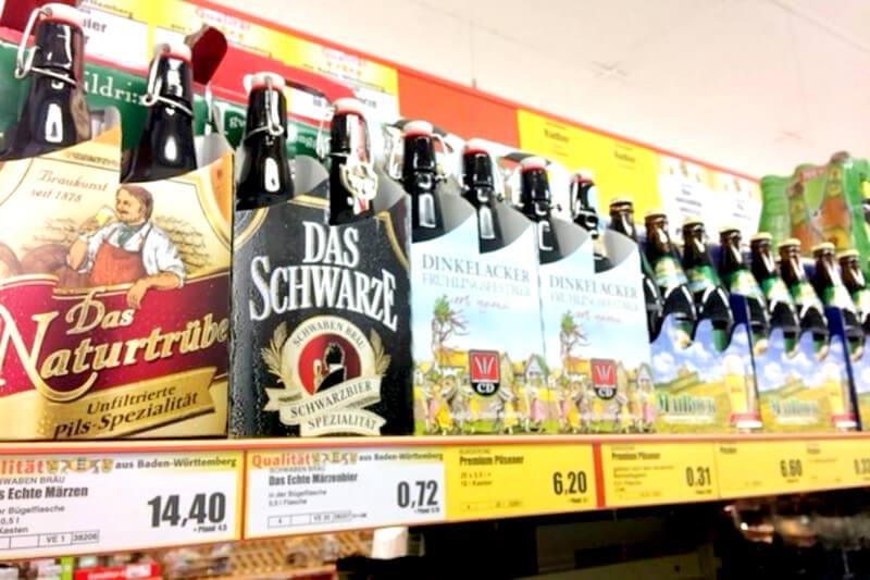チェコのビールが並ぶ