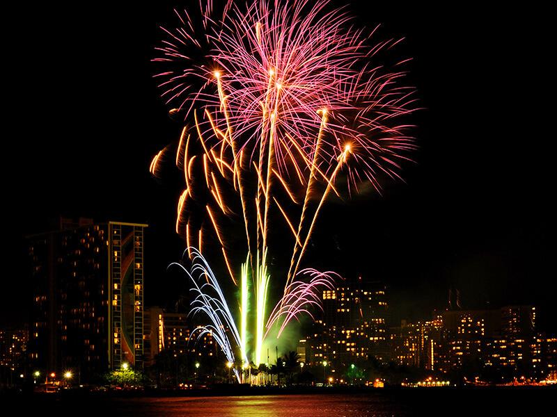 ハワイアンビレッジの花火