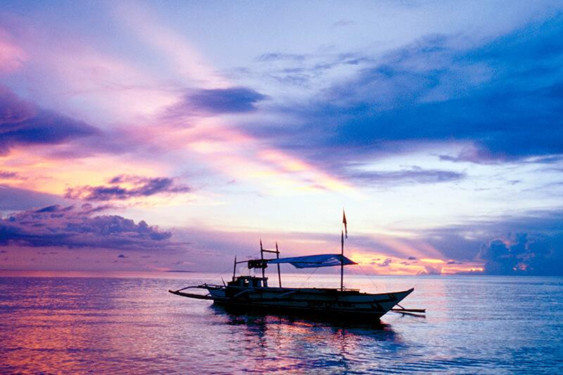 フィリピン ボラカイ島 夕焼け