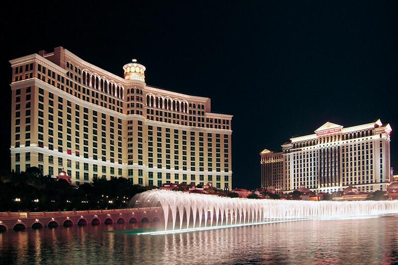 ベラージオホテルの噴水