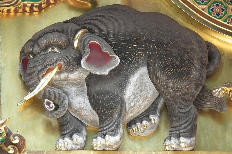 東照宮の空想の象