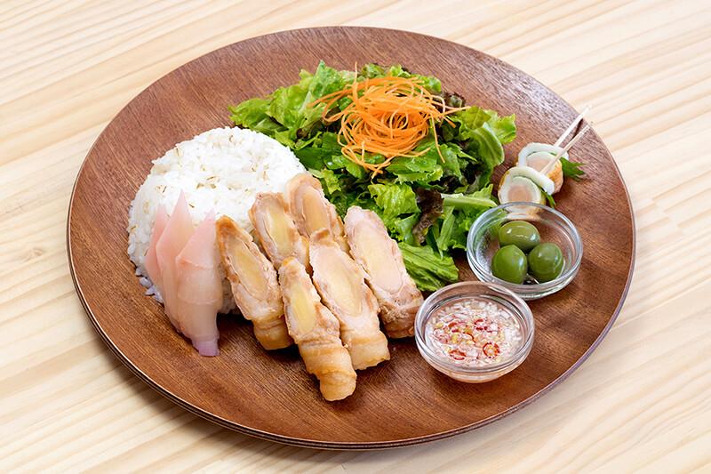 新生姜肉巻きプレート エスニックソース