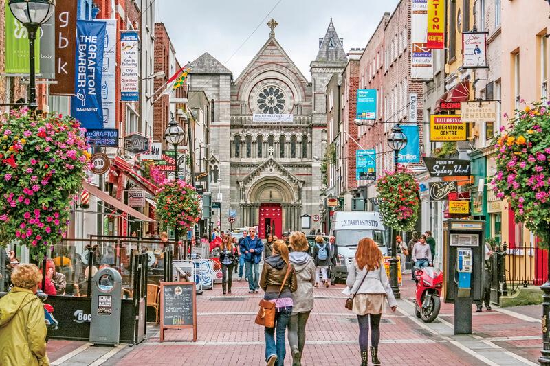 ダブリンの街並み