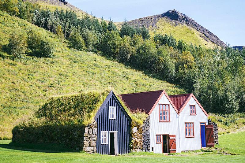 スコゥガル博物館の芝生の家