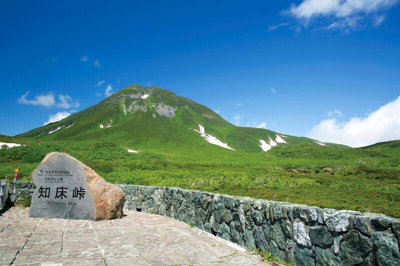 知床峠の石碑