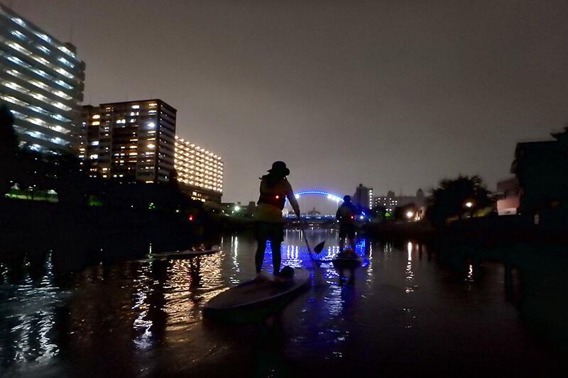 SUP体験 夜景