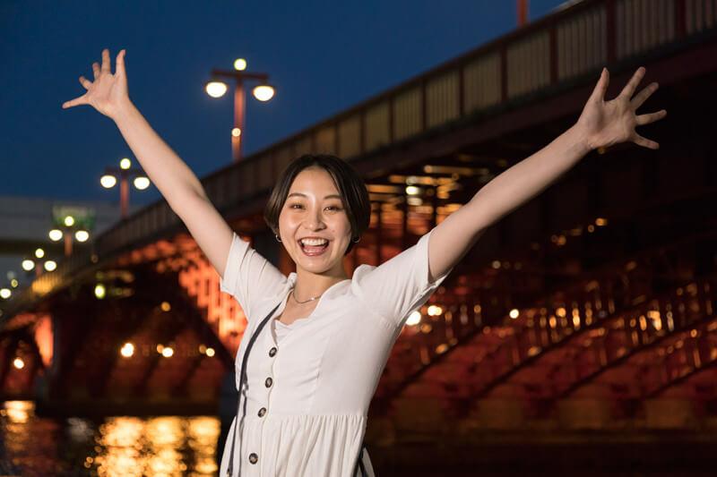 吾妻橋のライトアップが今日のクライマックス!
