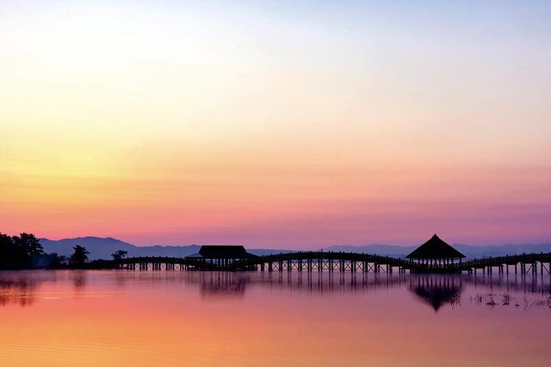 鶴の舞橋 夕景