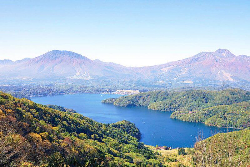 信州野尻湖と北信5岳の秋