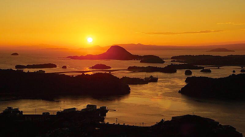 夕景の天草松島