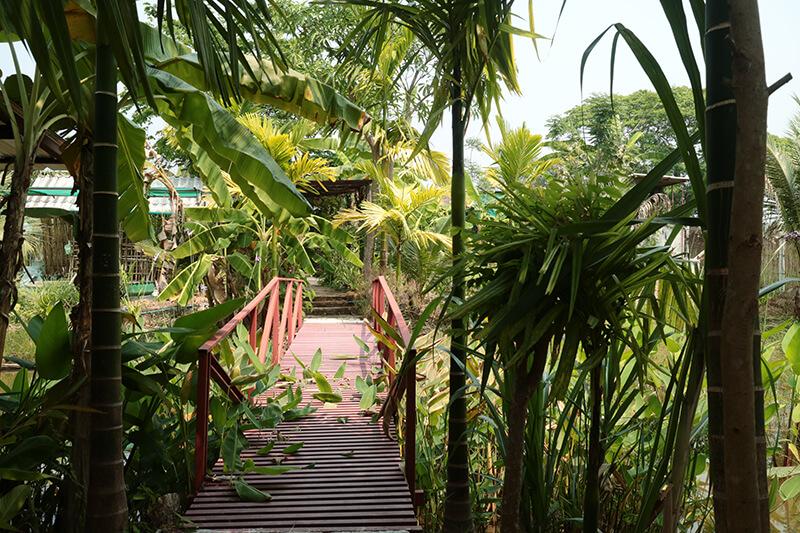 自然溢れる休憩スペース