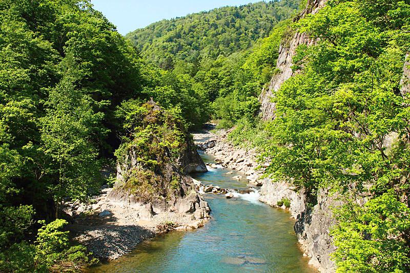 定山渓渓谷 かっぱ淵