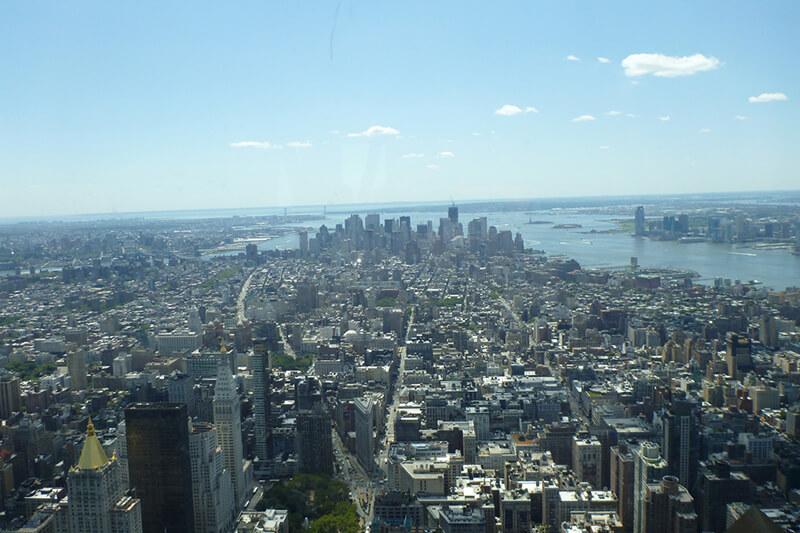 102階展望台からの眺め