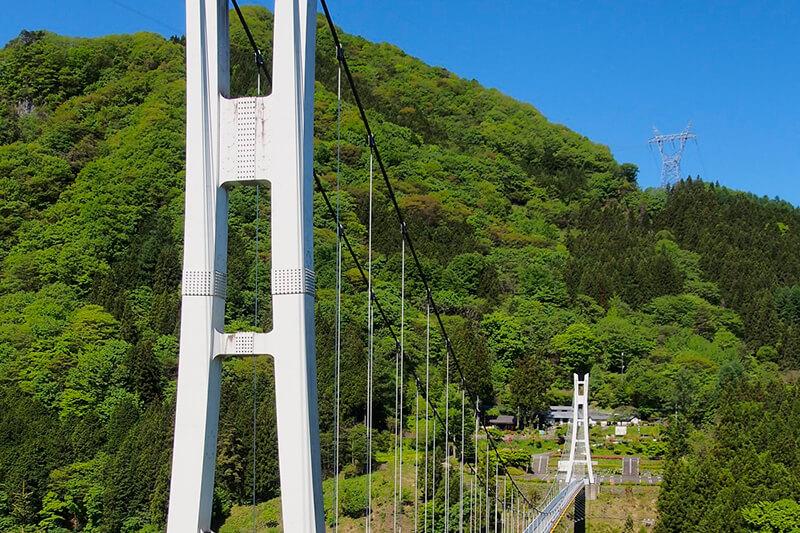 シャボン玉の舞う絶景吊橋♪群馬県上野村の「上野スカイブリッジ」をご紹介
