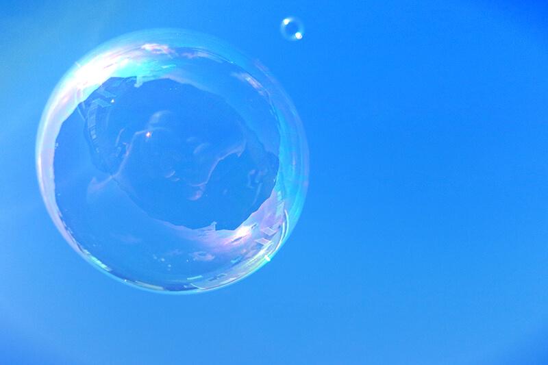 bubble in sky