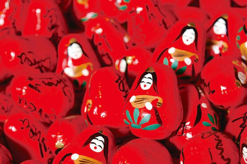 竹生島 弁天様の幸せ願いダルマ