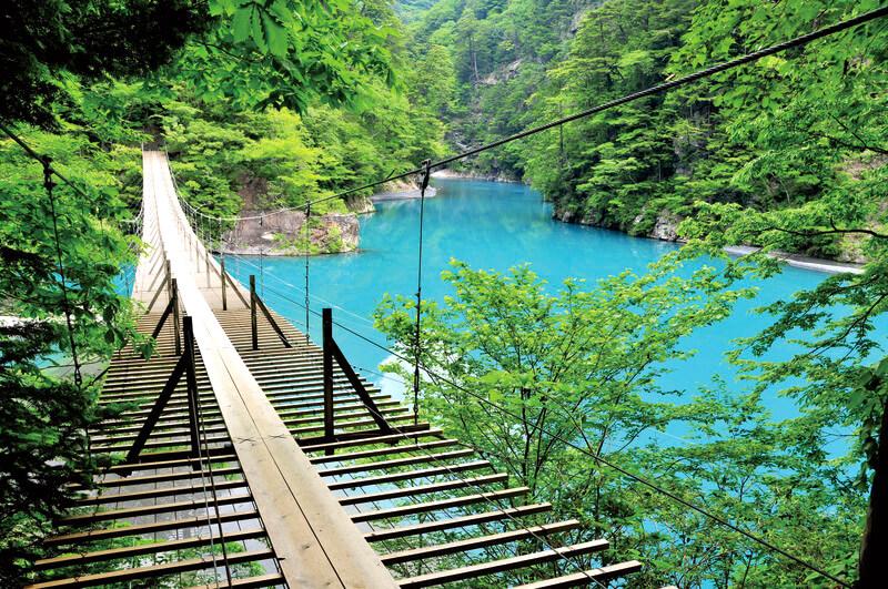静岡県・寸又峡「夢の吊橋」