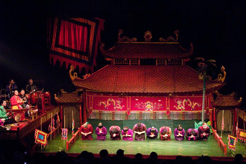 ベトナムの水上人形劇会場
