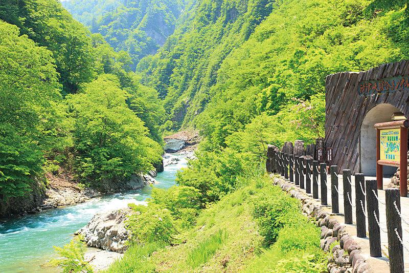 清津峡渓谷 夏